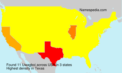 Surname Uwagboi in USA