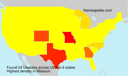 Surname Uwalaka in USA