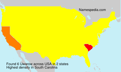 Surname Uwarow in USA