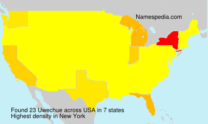 Surname Uwechue in USA