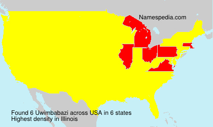 Surname Uwimbabazi in USA