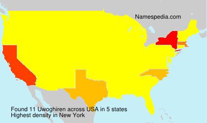 Surname Uwoghiren in USA