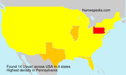 Surname Uyvari in USA