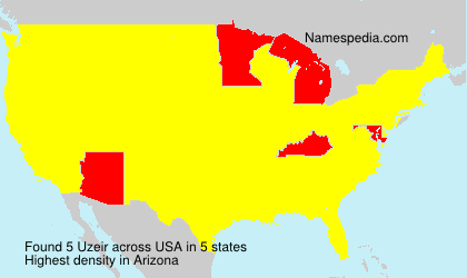 Surname Uzeir in USA