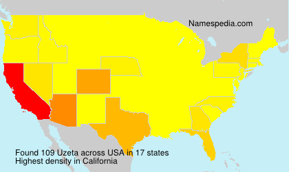 Surname Uzeta in USA