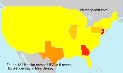 Surname Uzodike in USA