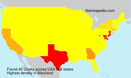 Surname Uzoka in USA
