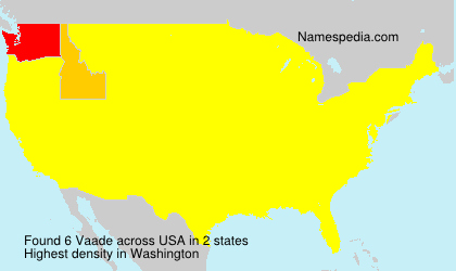 Surname Vaade in USA