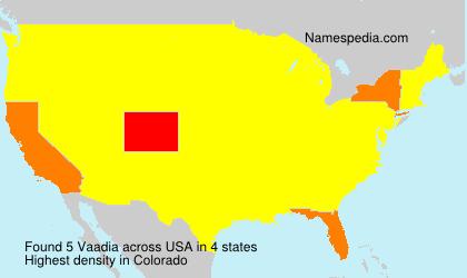 Familiennamen Vaadia - USA
