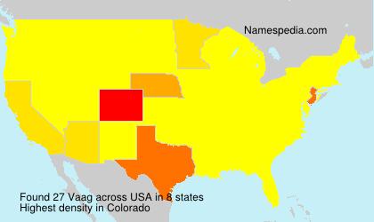 Familiennamen Vaag - USA