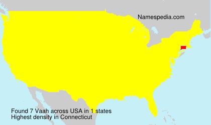 Surname Vaah in USA
