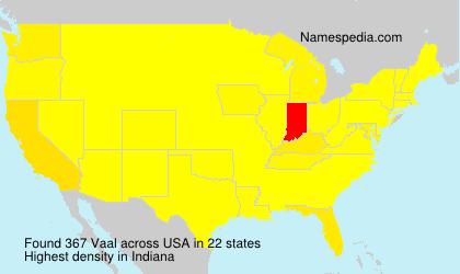 Familiennamen Vaal - USA