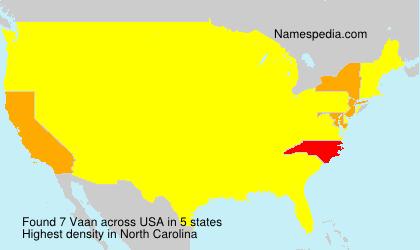 Familiennamen Vaan - USA