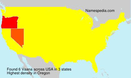 Surname Vaana in USA