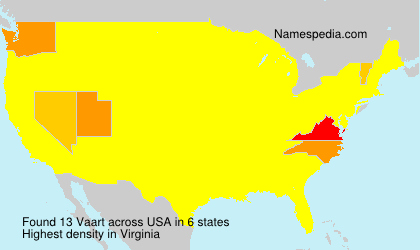 Surname Vaart in USA