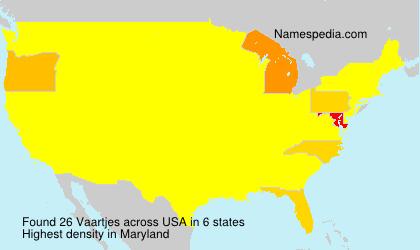 Familiennamen Vaartjes - USA