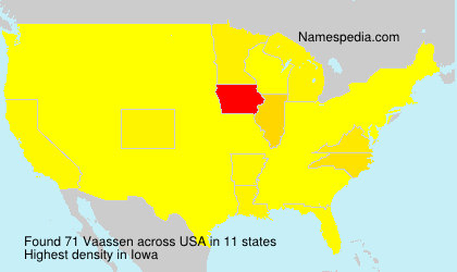 Surname Vaassen in USA