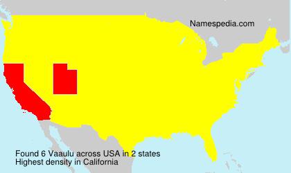 Surname Vaaulu in USA