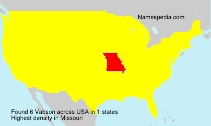Surname Vabson in USA