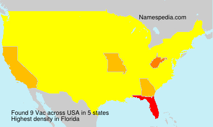 Surname Vac in USA