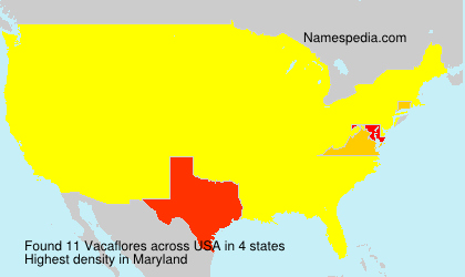 Familiennamen Vacaflores - USA