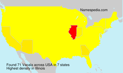 Surname Vacala in USA