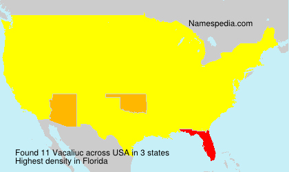 Surname Vacaliuc in USA