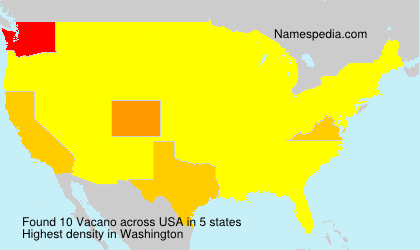 Surname Vacano in USA