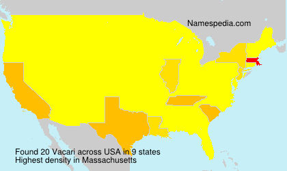 Surname Vacari in USA