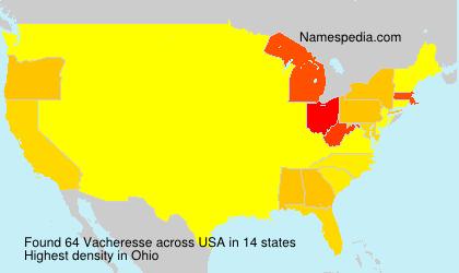 Familiennamen Vacheresse - USA