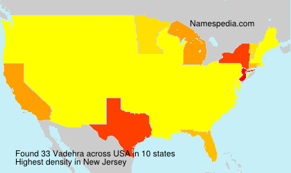 Surname Vadehra in USA