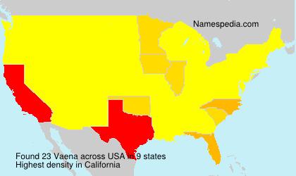 Familiennamen Vaena - USA