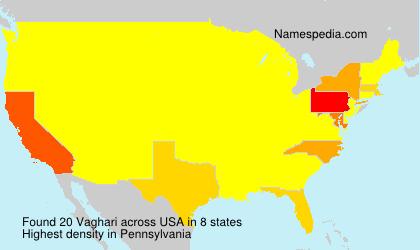 Surname Vaghari in USA
