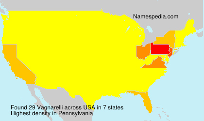 Surname Vagnarelli in USA