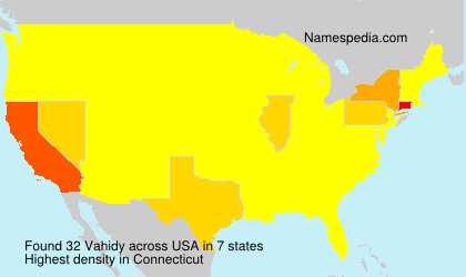 Surname Vahidy in USA