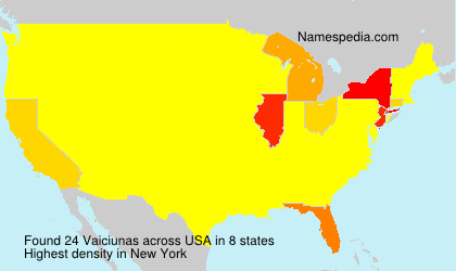 Surname Vaiciunas in USA