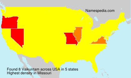 Surname Vaikuntam in USA