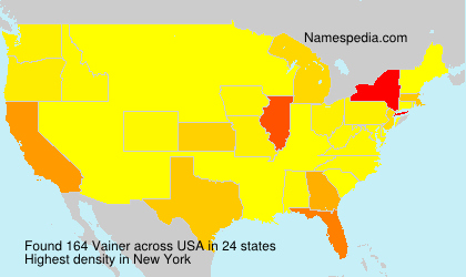 Surname Vainer in USA