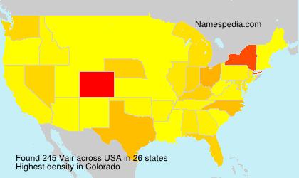 Surname Vair in USA
