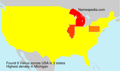 Surname Vairus in USA
