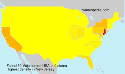Familiennamen Vajo - USA