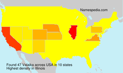 Surname Valaika in USA