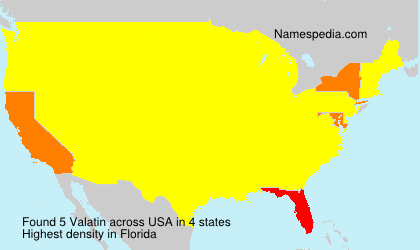 Surname Valatin in USA