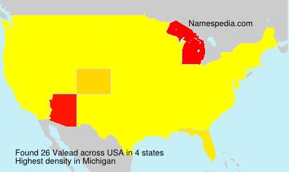 Familiennamen Valead - USA