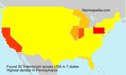 Surname Valentovich in USA