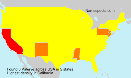 Surname Valerye in USA