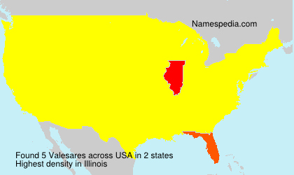 Surname Valesares in USA