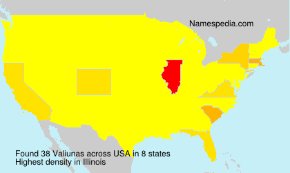Surname Valiunas in USA