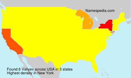 Surname Valiyev in USA