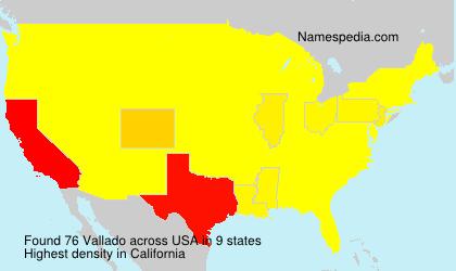Surname Vallado in USA